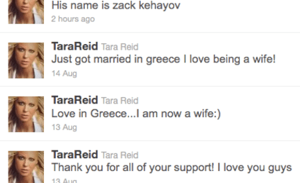 Tara Reid: Actually Married to Zack Kehayov!