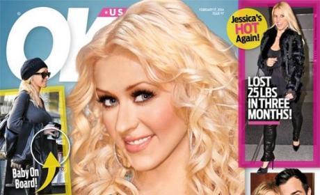 Christina Aguilera Pregnant Cover