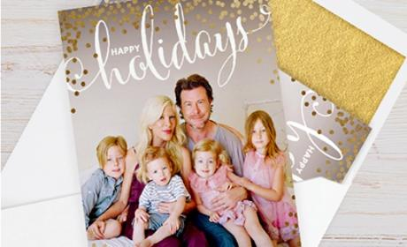 Tori Spelling Christmas Card