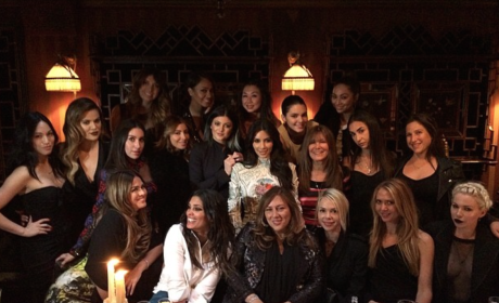 Kim Kardashian Bachelorette Party Photo: Last Supper Time!