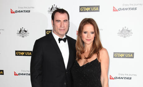Travolta and Kelly Preston