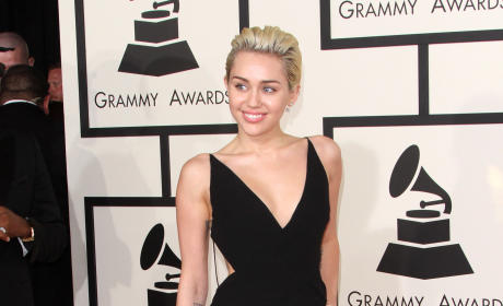 Miley Cyrus at the 2015 Grammys