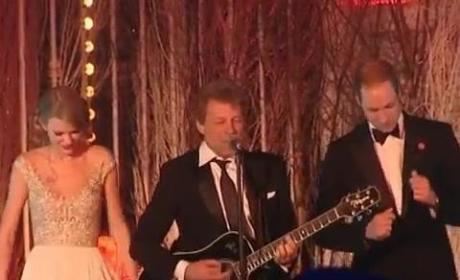 "Taylor Swift, Bon Jovi and Prince William - ""Livin on a Prayer"""