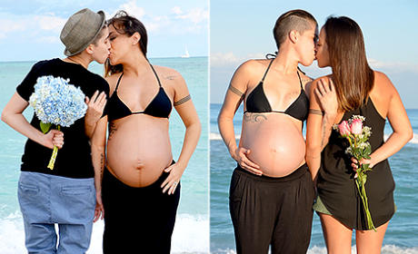 Pregnant Lesbian Couple Kisses in Viral Photo: See It Here!