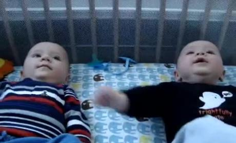 5-Month Old Twins Engage in Intense Conversation