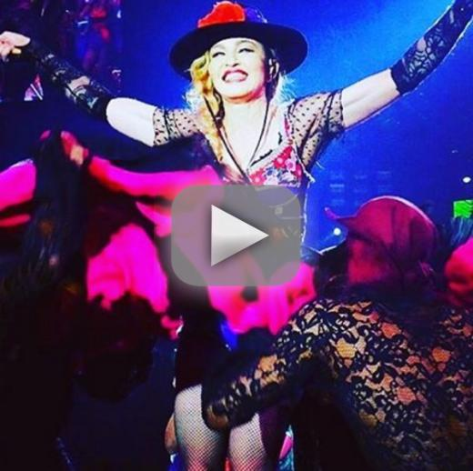 Madonna exposes fans boob during concert