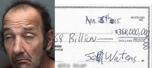 Florida Man Arrested While Attempting to Cash $368 BILLION Check to Open Underwater Restaurant