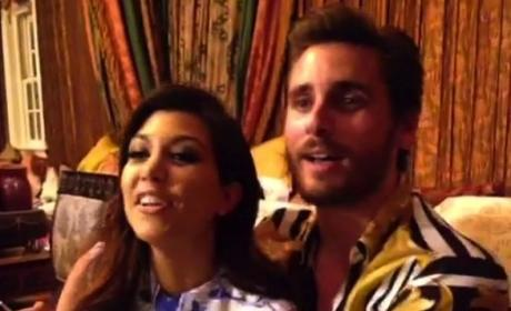 Scott Disick Spends the Night at Kourtney Kardashian's House: Are They Back Together?!