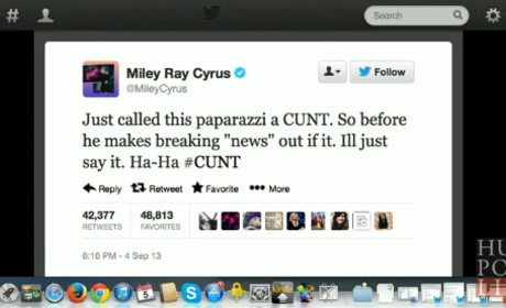 Miley Cyrus Throws C-Word Around