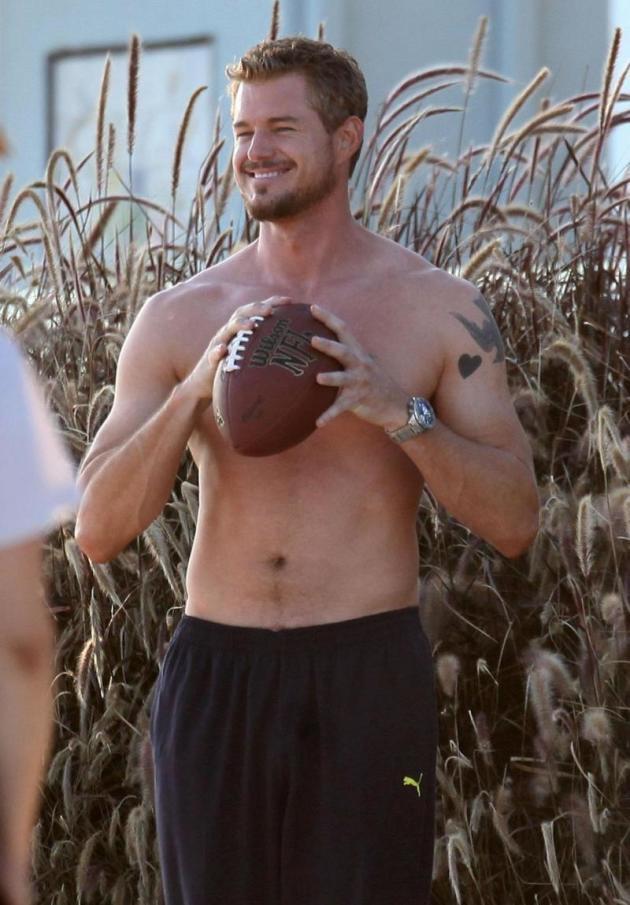 Shirtless Eric Dane