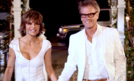 Lisa Rinna and Harry Hamlin on The Real Housewives of Beverly Hills