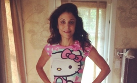 Bethenny Frankel in Daughter's Pajamas