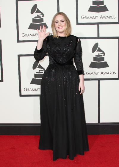 Adele at 2016 Grammy Awards