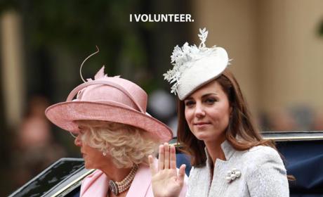 Kate Middleton Volunteers as Tribute