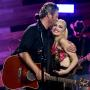 Blake Shelton and Gwen Stefani Perform at iHeartRadio in Burbank