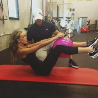 Paulina Gretzky Works Out