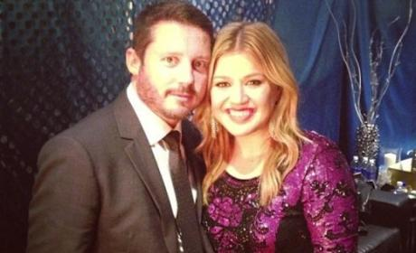 Brandon Blackstock with Kelly Clarkson