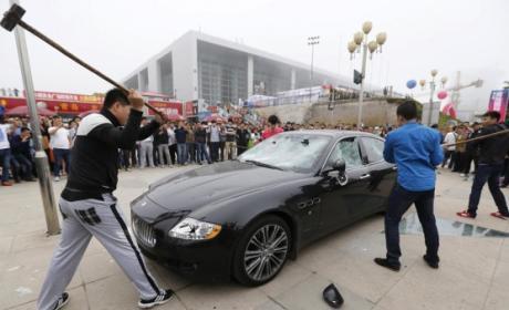 Man Destroys Maserati Over Poor Dealership Service