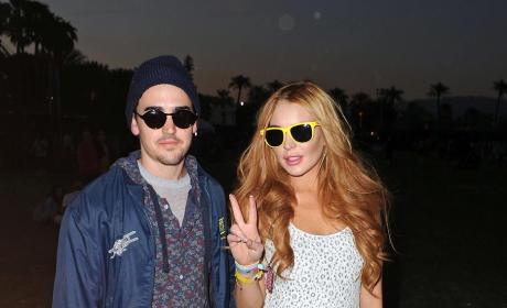 Lindsay Lohan: Partying at Coachella?