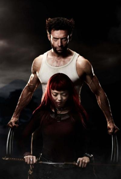 The Wolverine Hugh Jackman and Rila Fukushima