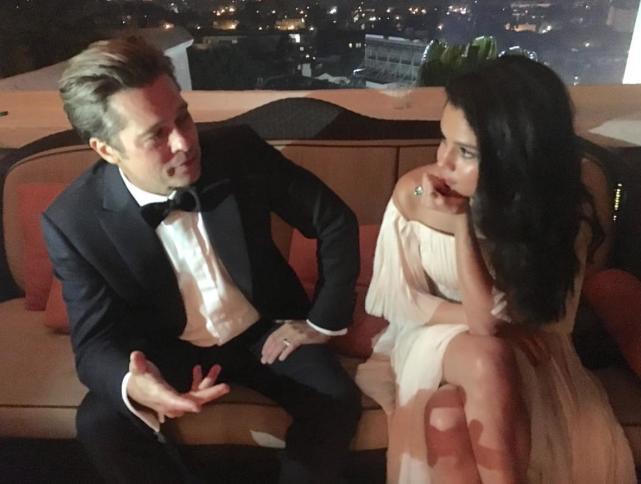 Selena Gomez and Brad Pitt