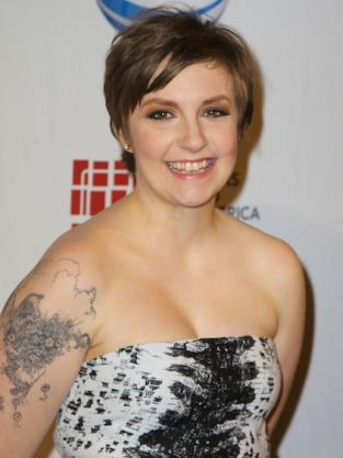 Lena Dunham Close Up