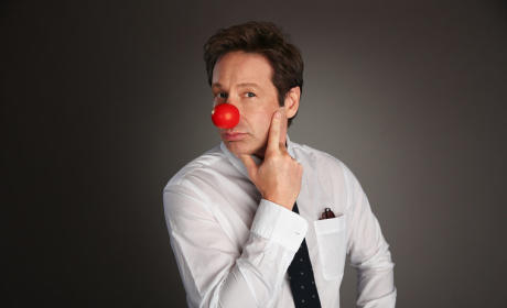 David Duchovny Red Nose Photo