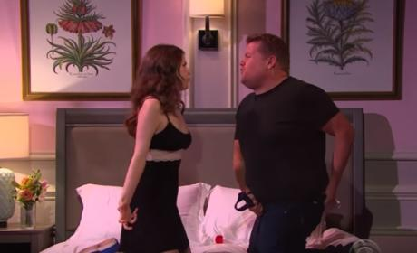 Anna Kendrick and James Corden