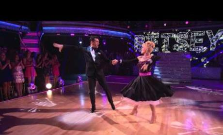 Betsey Johnson & Tony Dovolani - Dancing with the Stars Week 2