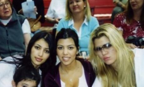 Khloe, Kourtney, Kim and Kylie Throwback