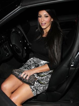 Kim Leaving a Kar