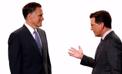 Stephen Colbert Meets Mitt Romney in Late Show Promo