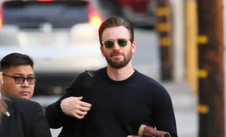 Chris Evans Tapes Jimmy Kimmel Live!