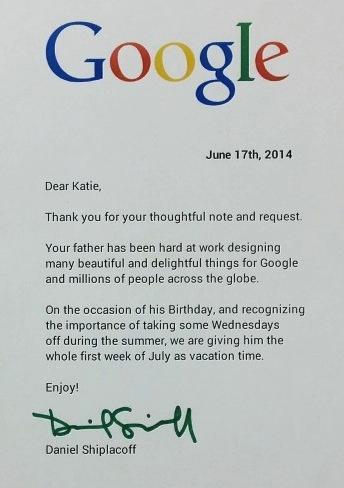 Letter From Google