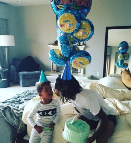 Wiz Khalifa and Son Image