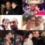 Kris Jenner with Lamar Odom, Scott Disick and Kanye West