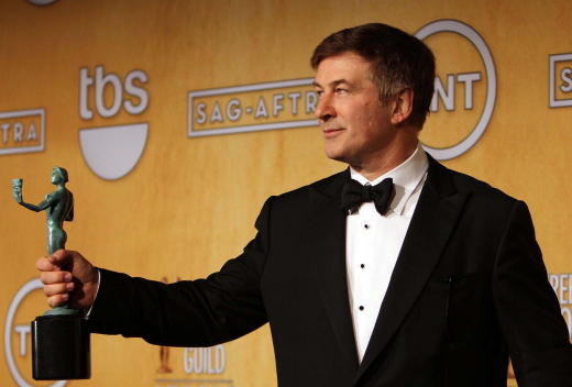 Alec Baldwin with a SAG Award