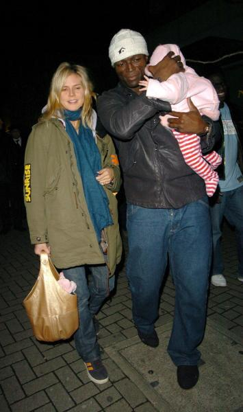 Heidi Klum And Seal With Baby