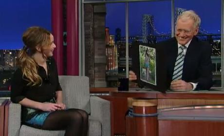 Jennifer Lawrence on Letterman: That's Not My Ass!