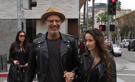Jeff & Emily Goldblum In Beverly Hills