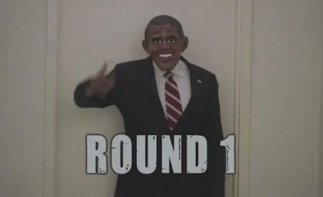 Barack Obama vs. Mitt Romney: Battle of the Halloween Masks!