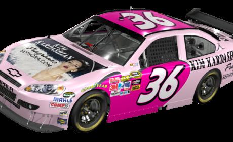 Sign of the Apocalypse: Kim Kardashian Featured on NASCAR Racing Car