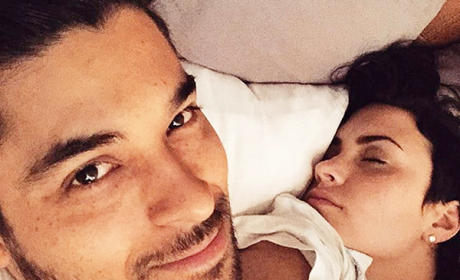 "Wilmer Valderrama Snaps Selfie of Sleeping ""Angel"" Demi Lovato"