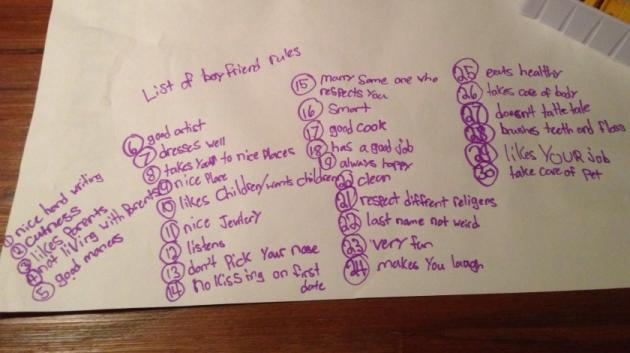 30 Boyfriend Rules