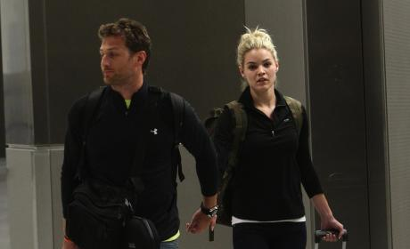 Juan Pablo and Nikki Ferrell at the Airport