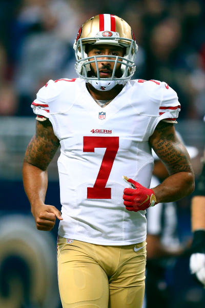 Colin Kaepernick on the Field