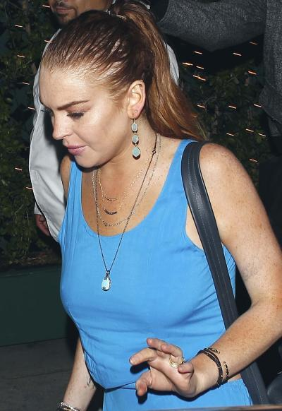 Perky Lindsay Lohan