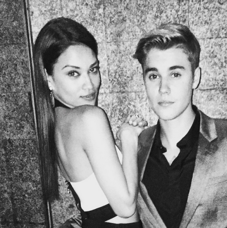 Shanina Shaik and Justin Bieber Photo