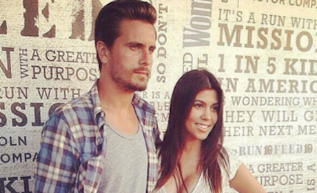 Kourtney and Scott Disick
