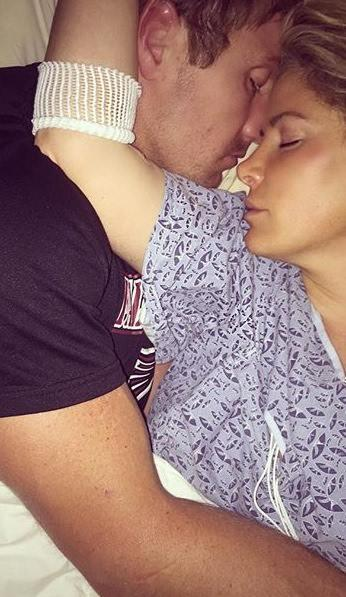 Kim Zolciak, Kroy Biermann Hospital Photo